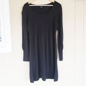 Spense Large Black Midi Knit Sweater Dress